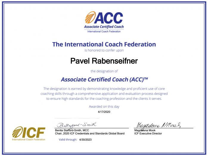 Pavel Rabenseifner ICF ACC